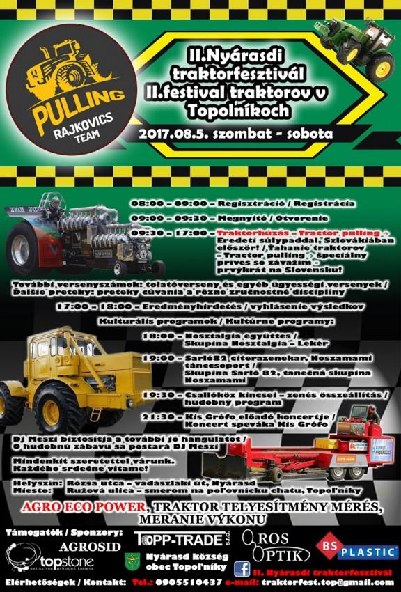 II. festival traktorov v Topoľníkoch