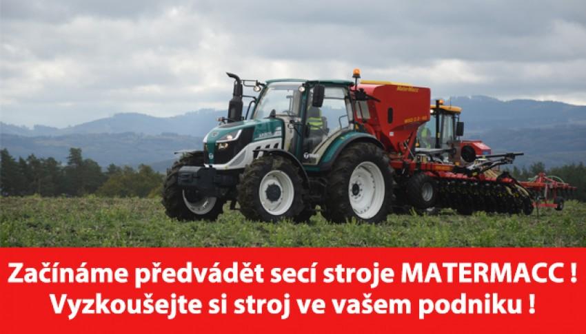 Začínáme předvádět secí stroje Matermacc !