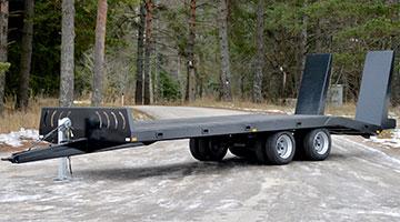 Plošinový návěs pro přepravu strojů PT 5850